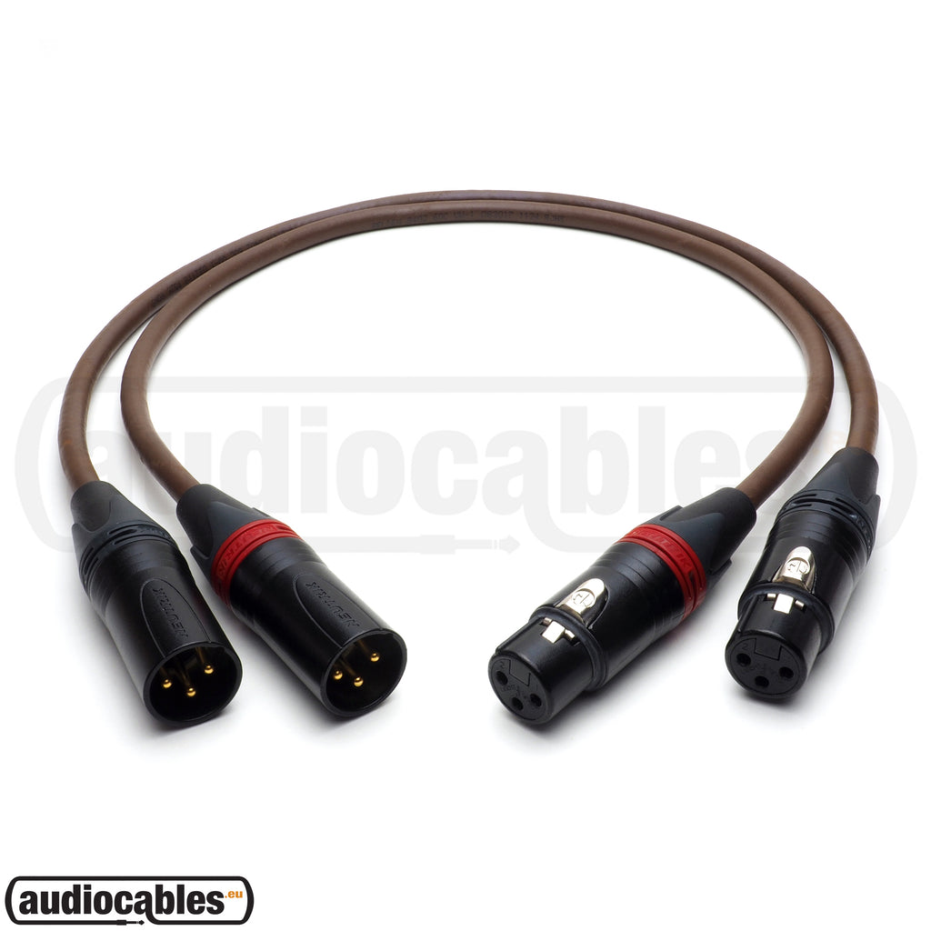 Belden 8402 Balanced Pair Cables w/ Gold Neutrik XLR Connectors