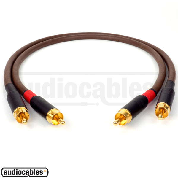 Belden 8402 RCA to RCA Hi Fi Interconnect Cable (Pair) w/ Gold Switchcraft Connectors
