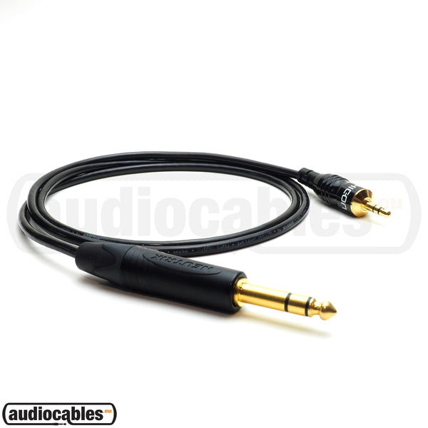 Sommer Cable w/ Hicon Gold Mini Jack To Neutrik Gold Stereo Jack