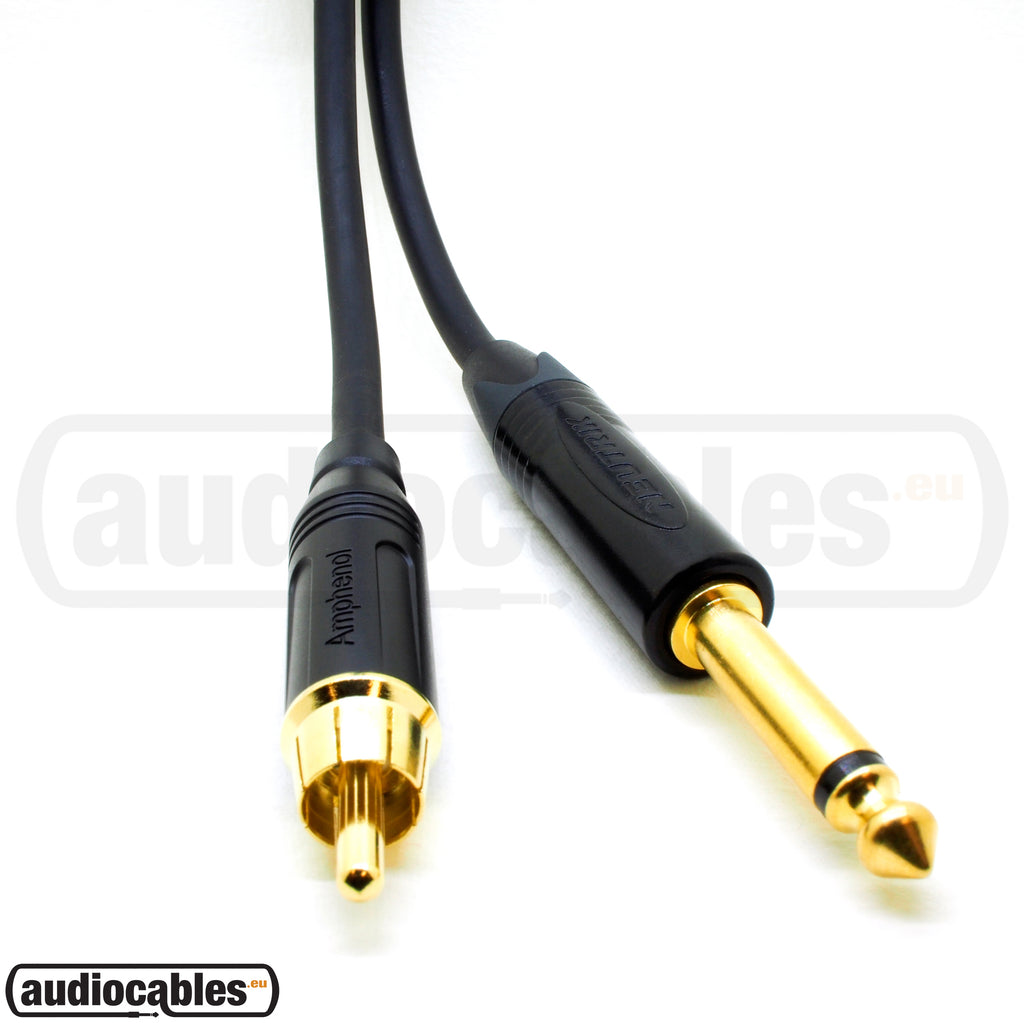 Klotz Unbalanced / Instrument Cable w/ Amphenol Rca To Neutrik Gold Plug