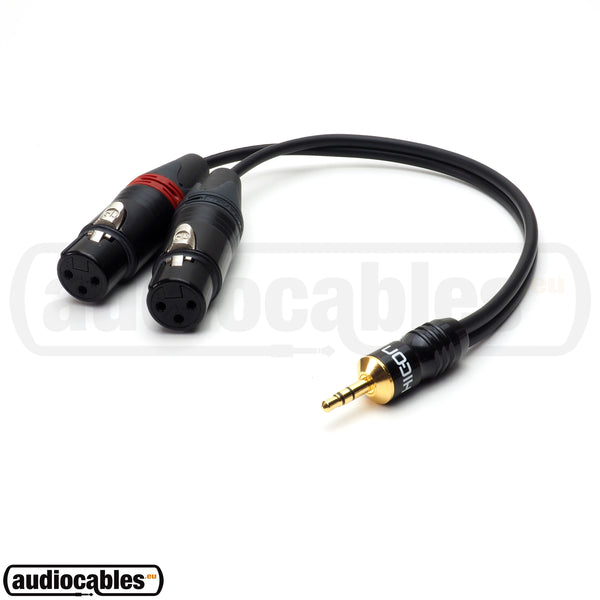 Sommer Cable w/ Hicon Mini Jack to 2 Neutrik Female XLR