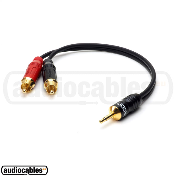 Sommer Cable w/ Amphenol Gold RCA to Hicon Mini Jack
