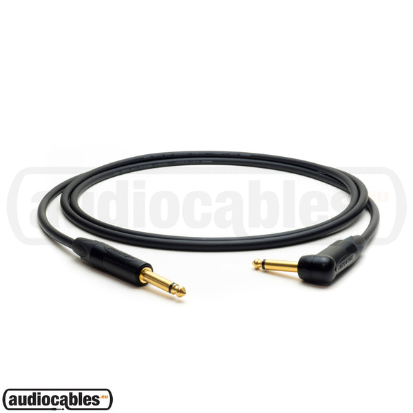 Mogami 2524 Instrument Cable w/ Neutrik Gold Plugs (Single Angled)