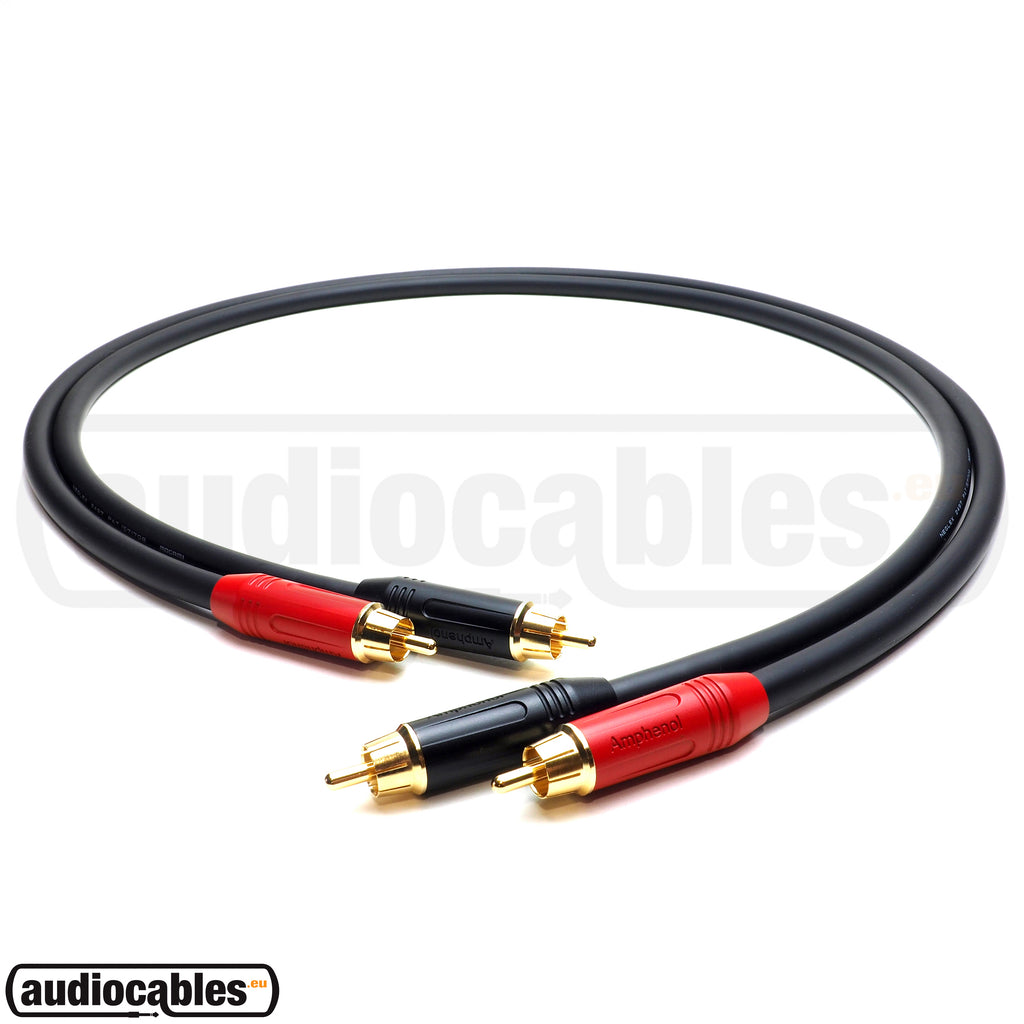 Mogami 2497 RCA to RCA Hi Fi Cable (Pair) w/ Gold Amphenol Connectors