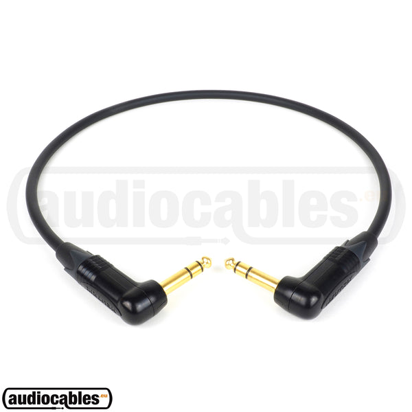 Mogami 2534 Balanced Cable w/ Gold Angled Neutrik 1/4'' TRS Jack Connectors