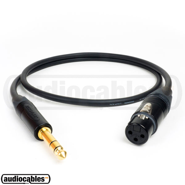 Mogami 2534 Balanced Cable w/ Gold Neutrik Female XLR to 1/4'' TRS