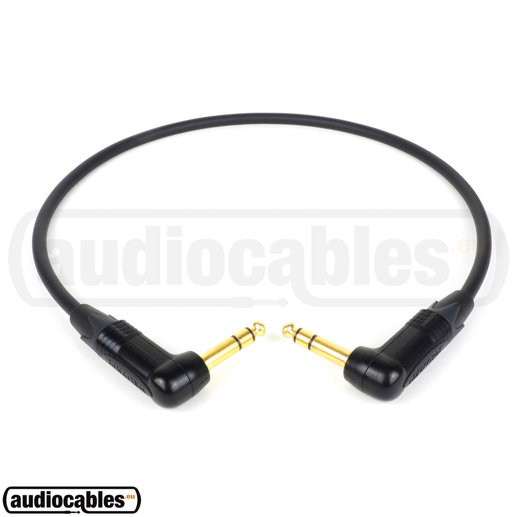 Mogami 2549 Balanced Cable w/ Gold Angled Neutrik 1/4'' TRS Jack Connectors