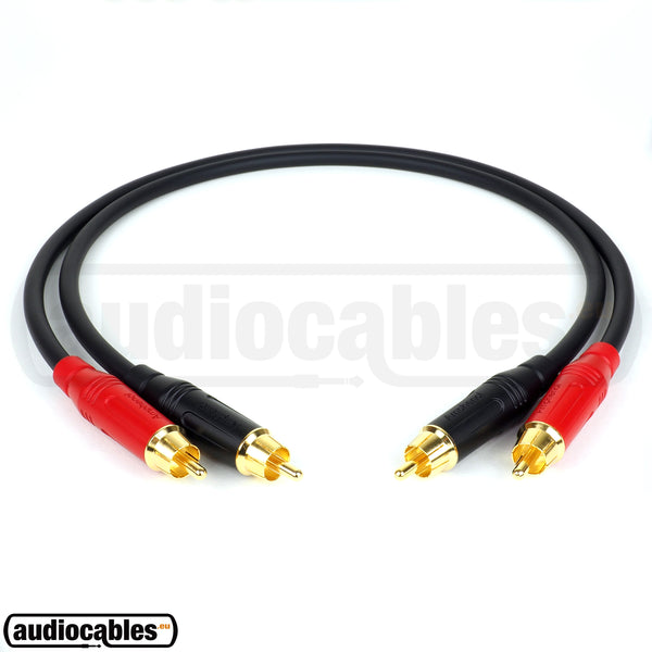 Mogami 2549 RCA to RCA Hi Fi Interconnect Cable (Pair) w/ Gold Amphenol Connectors