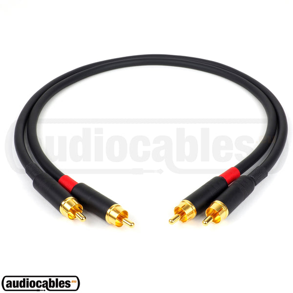 Mogami 2549 RCA to RCA Hi Fi Interconnect Cable (Pair) w/ Gold Switchcraft Connectors