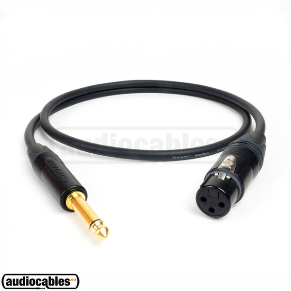 Mogami 2549 Unbalanced Cable w/ Gold Neutrik Female XLR to 1/4'' TS