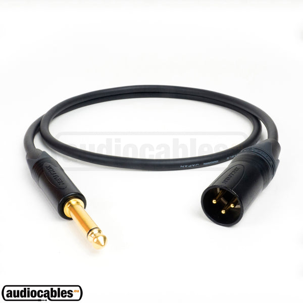 Mogami 2549 Unbalanced Cable w/ Gold Neutrik Male XLR to 1/4'' TS