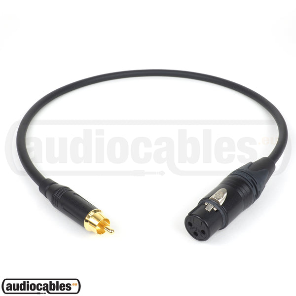 Mogami 2549 RCA to Female XLR Cable