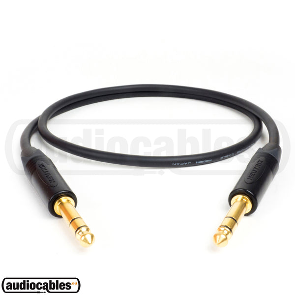 Mogami 2582 Balanced Patch Cable w/ Gold Neutrik 1/4'' TRS Jack Connectors
