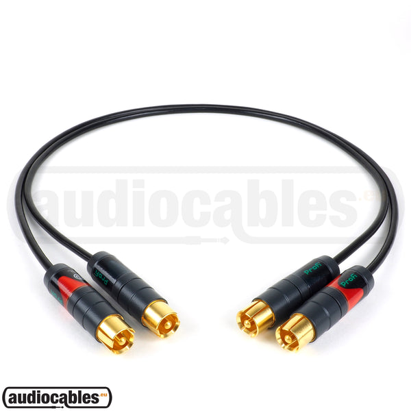 Mogami 2803 RCA to RCA Hi Fi Interconnect Cable (Pair) w/ Gold Neutrik Connectors