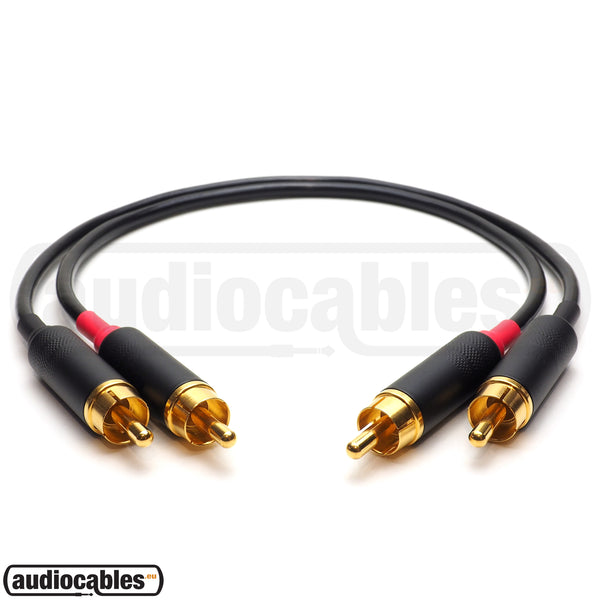 Mogami 2803 RCA to RCA Hi Fi Interconnect Cable (Pair) w/ Gold Switchcraft Connectors