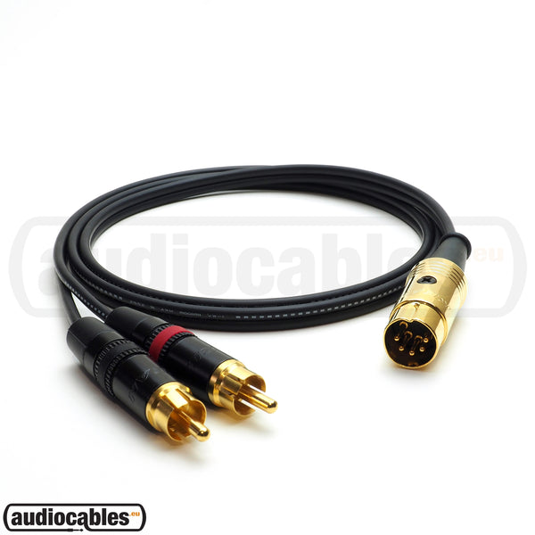 Mogami 2947 - 5 Pin Din to Neutrik Rean RCA Cable for NAIM, QUAD Amps