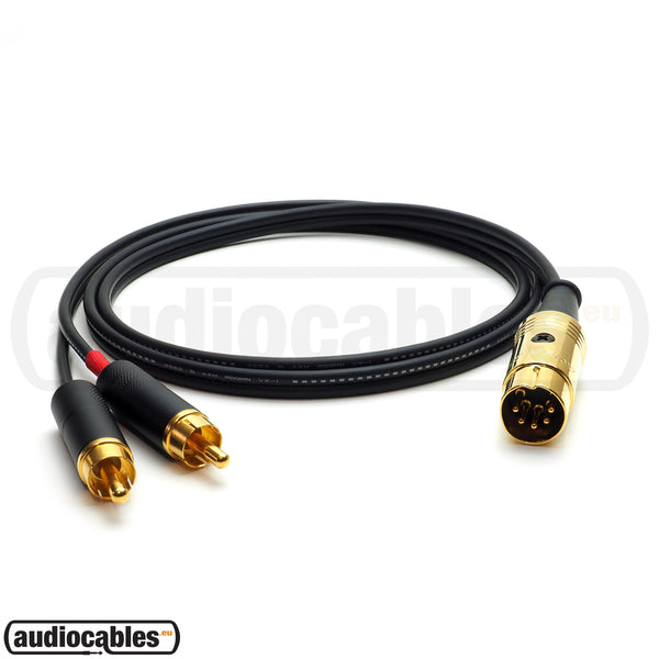 Mogami 2947 - 5 Pin Din to Switchcraft RCA Cable for NAIM, QUAD Amps