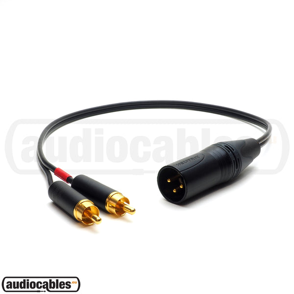 Mogami 2947 - 2 RCA to 1 Male XLR Cable for NAIM NAP 250, NAP 300