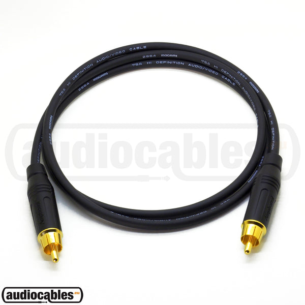 Mogami 2964 RCA 75 Ohm Digital Coaxial S/PDIF Cable w/ Amphenol Gold Connectors