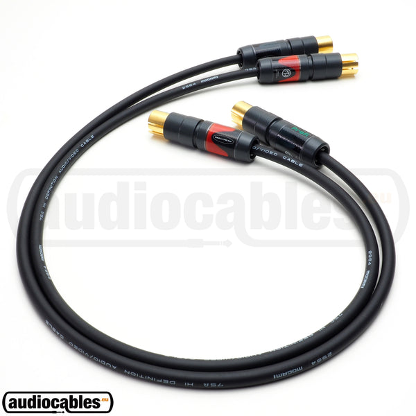 Mogami 2964 RCA to RCA High Definition Cable (Pair) w/ Gold Neutrik Connectors