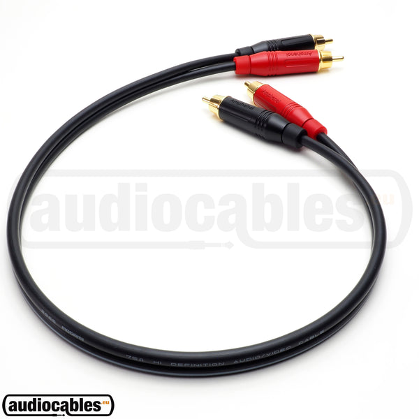 Mogami 2965 RCA to RCA High Definition Cable w/ Gold Amphenol Connectors
