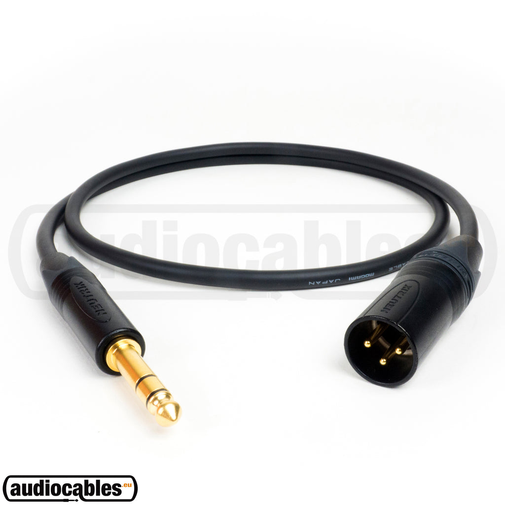 Mogami 3080 AES/EBU Digital 110 Ohm Balanced Cable w/ Gold Neutrik Male XLR to 1/4'' TRS