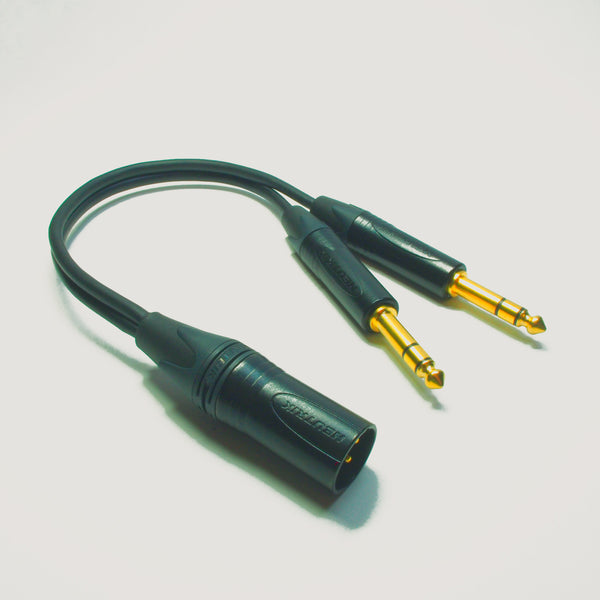 Male XLR To Two Stereo TRS Jack - Y Splitter Sommer Cable w/ Neutrik Gold Connectors