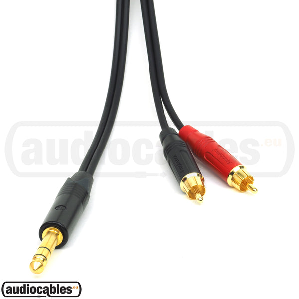 Sommer Cable w/ Amphenol Gold  RCA to Gold Neutrik Stereo Jack