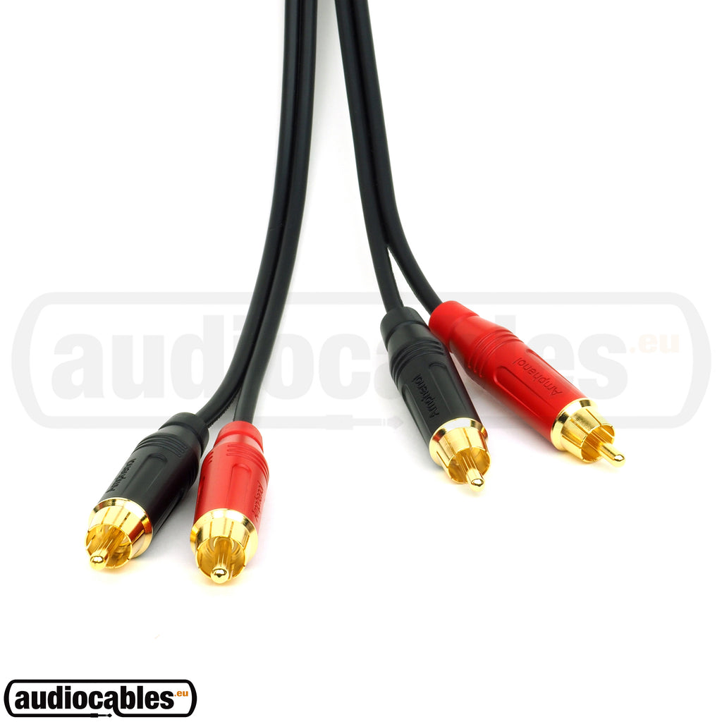Sommer Onyx RCA to RCA w/ Gold Amphenol Connectors