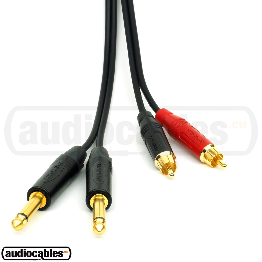 Sommer Cable w/ Amphenol Gold RCA to 2 Neutrik Mono Jacks