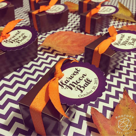 Personalized Party Favor Boxes with 2 Brigadeiros