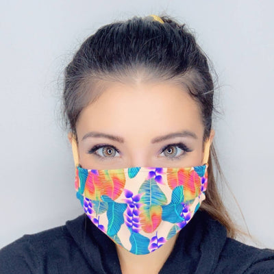 Bright & Bold Face Masks Face Mask Kini Bands Feathers
