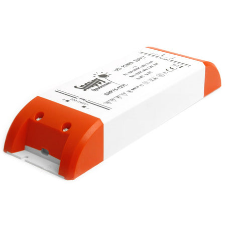 Snappy 12 Volt DC LED Strømforsyning - 75 Watt - IP20 - Ultra slim - 1