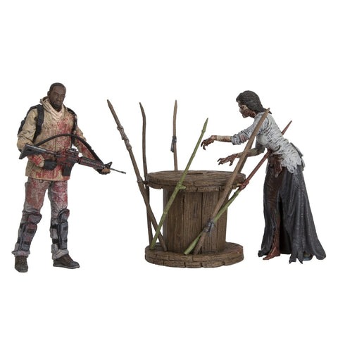 Walking Dead Morgan Jones with Impaled Walker and Spike Trap Deluxe Box Action Figure