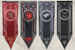 Game of Thrones Tournament Banners Set of 4 House Stark, Targaryen, Lannister & Night Watch