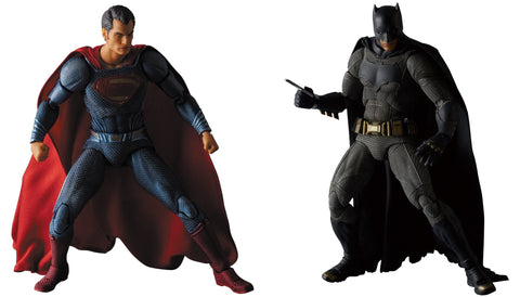 Medicom Batman v Superman: Batman and Superman MAF EX Action Figures