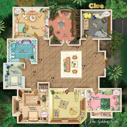the golden girls clue board game big toy chest. Black Bedroom Furniture Sets. Home Design Ideas