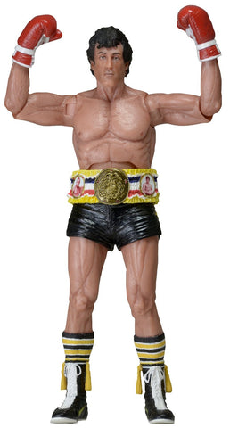 40th Anniversary Series 1 Black Trunks Rocky Action Figure with Belt (7
