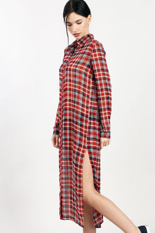Around Town Plaid Duster