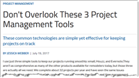 Simple, obvious ways to manage your projects. Technology does not need to be complicated.