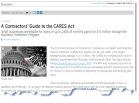 A Contractors' Guide to the CARES Act.