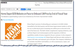 Home Depot B2B Website on Pace to Onboard 1M Pros by End of Fiscal Year.