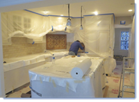 Jobsite Protection for Remodels - Wall off the job, protect surfaces, and create negative pressure.