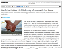 A good article for any remodeling company owner who works long hours, shoulder to shoulder, with a partner.