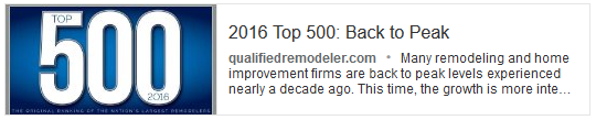 Qualified Remodeler TOP 500 - Take a look at what these big guys are doing.