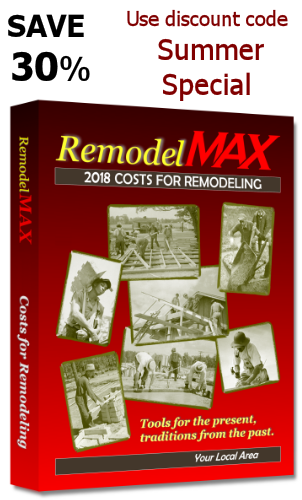 REMODELMAX COSTS FOR REMODELING MANUAL - WISCONSIN