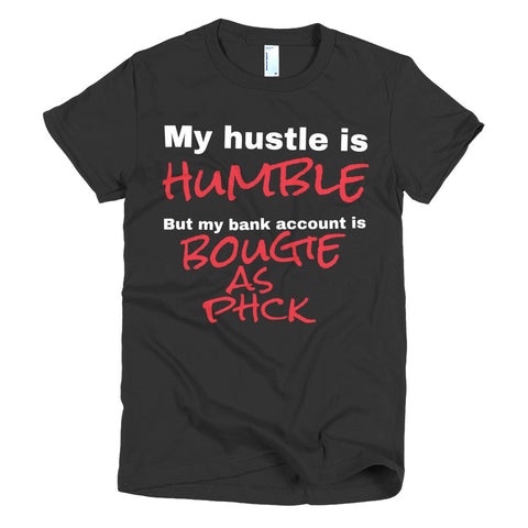 Hustle Humble Womens Fitted