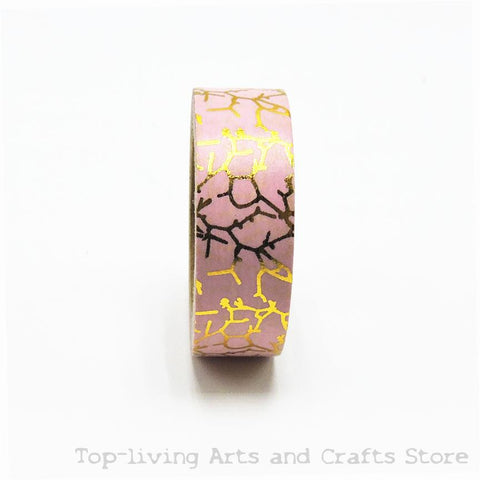 Pink with Gold Foil Decorative Washi Tape