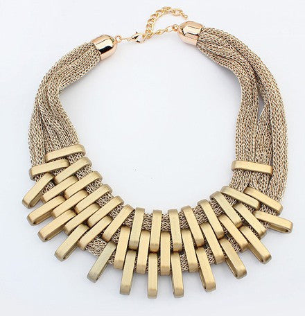 Gold Barz Collar Piece