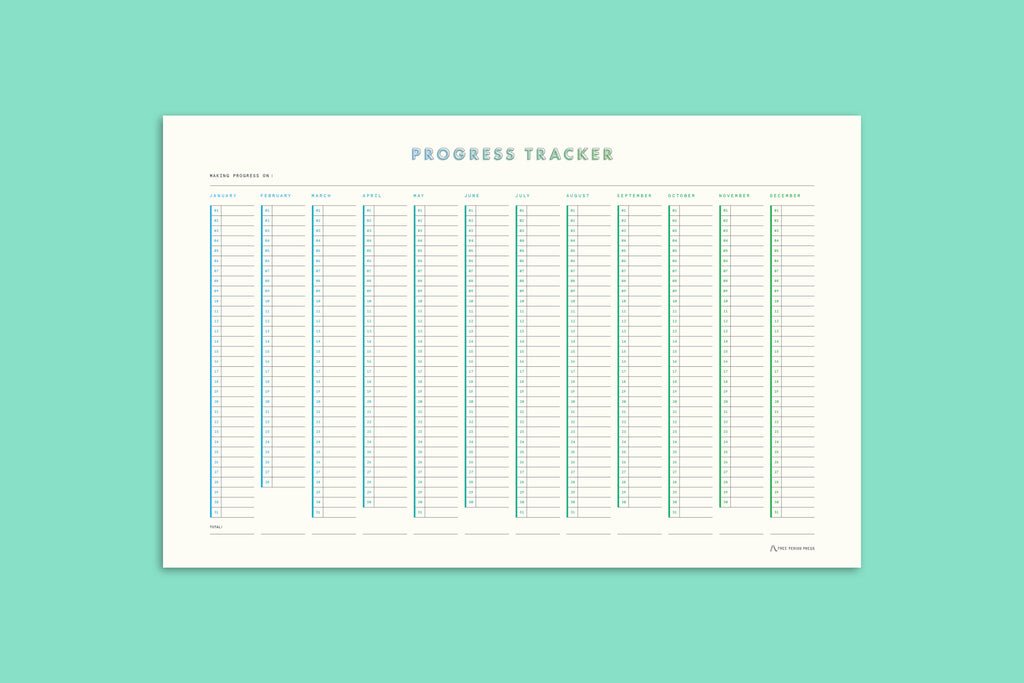 Free Period Press Progress Tracker Poster